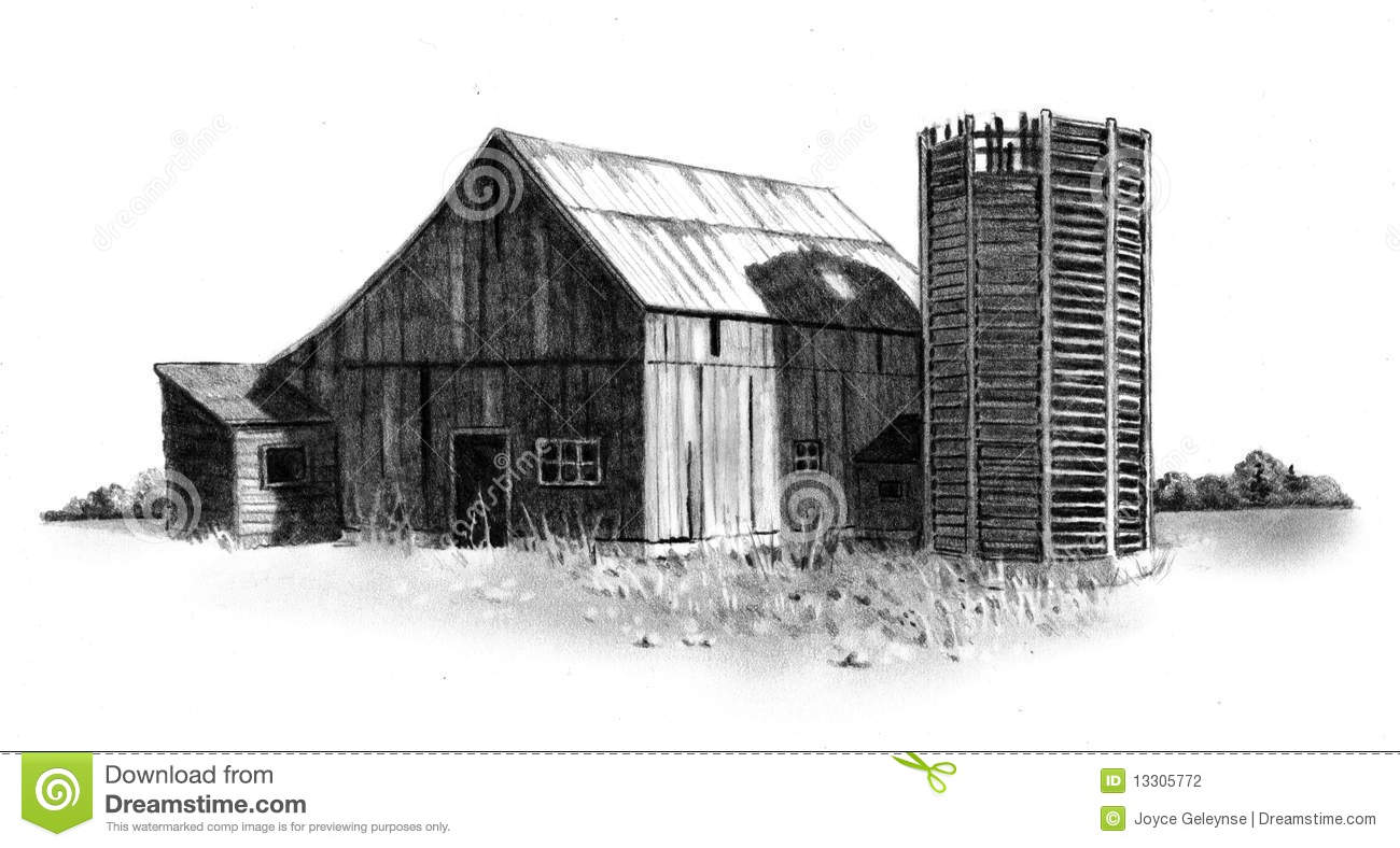 old barn drawing clipart clipart suggest