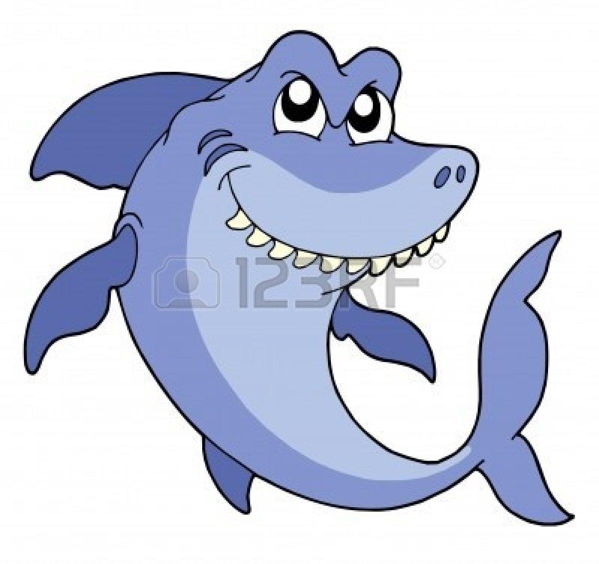 Smiling Shark Clipart 3295590 Smiling Shark On White ...
