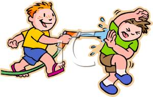 Water Fight Clip Art