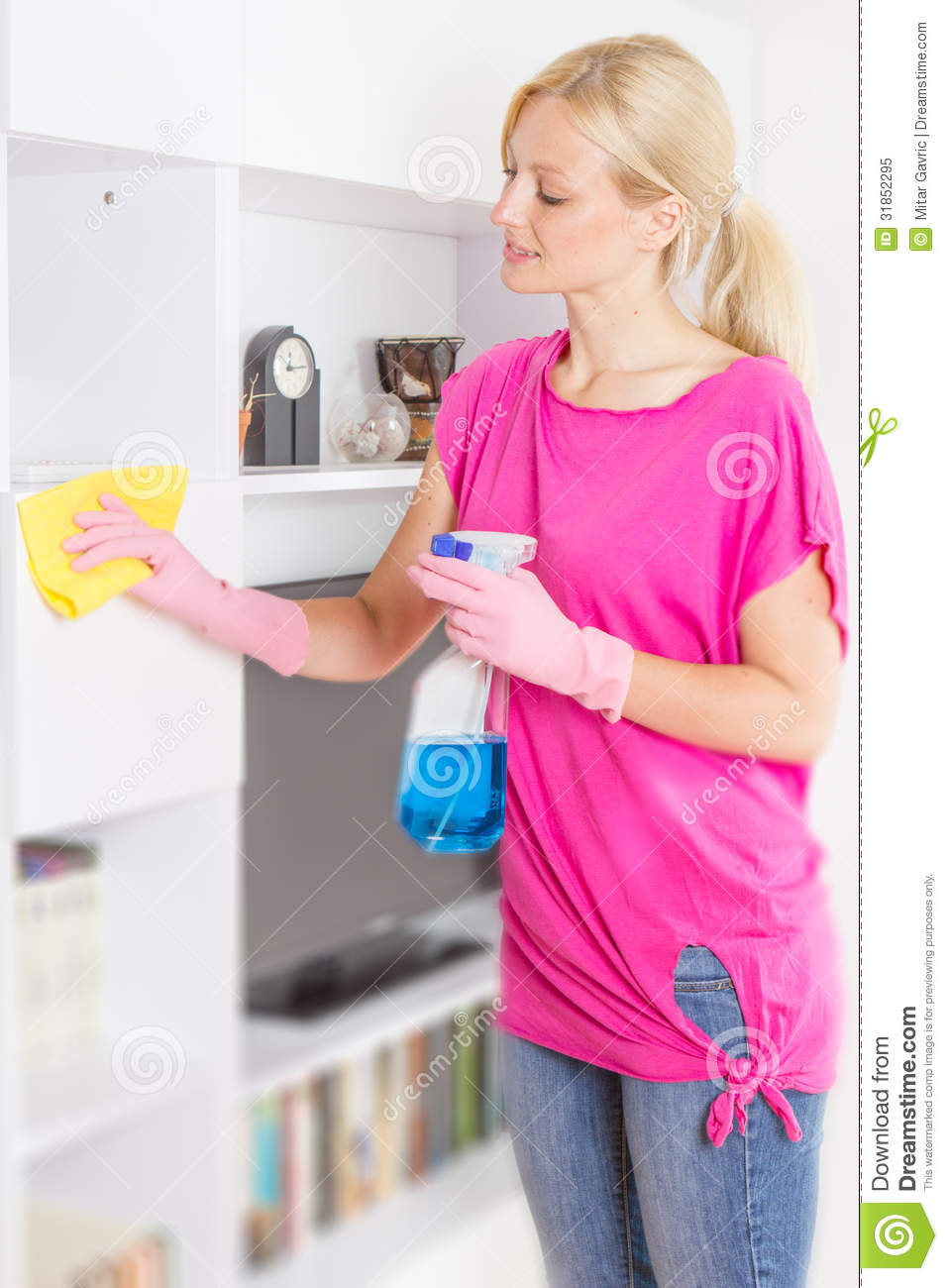 Woman Cleaning Home Royalty Free Stock Photo   Image  31852295