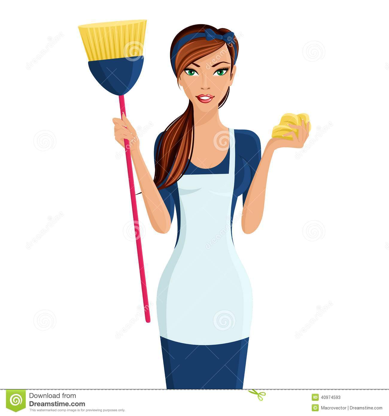 Young Woman Cleaner Stock Vector   Image  40974593