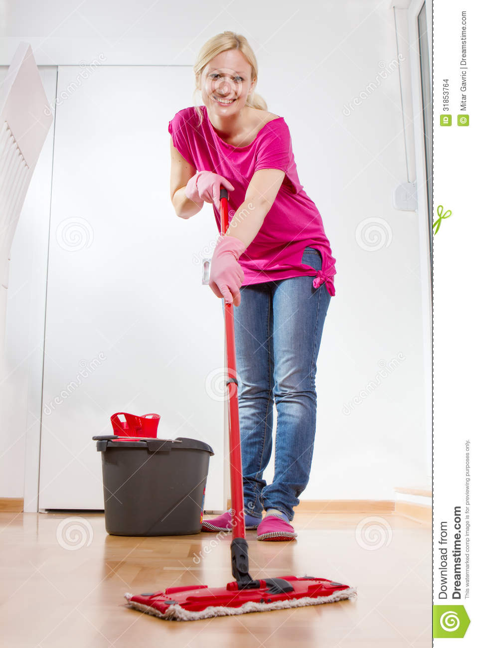 Young Woman Cleaning Home Stock Images   Image  31853764