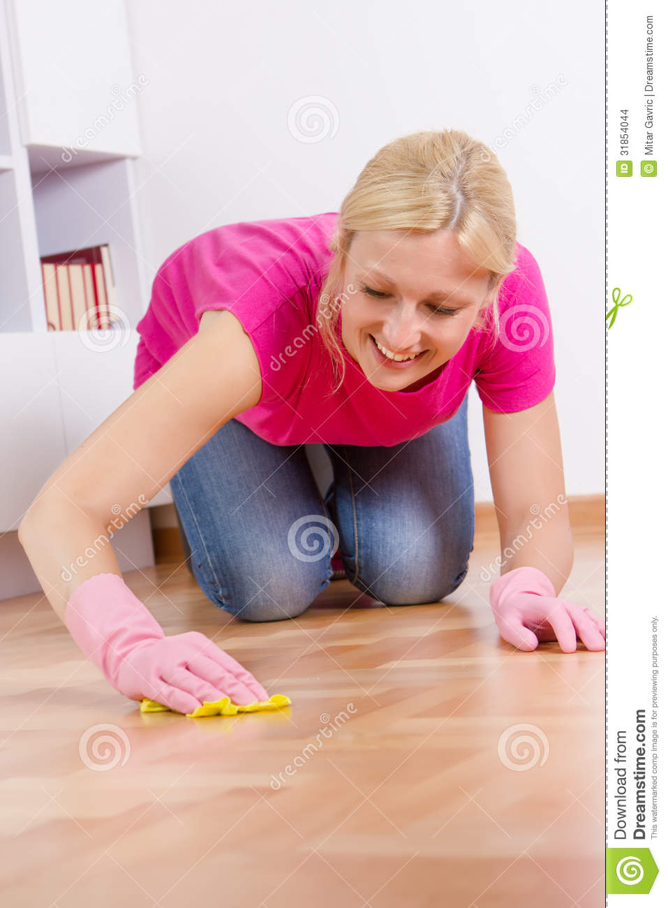 Young Woman Cleaning Home Stock Images   Image  31854044
