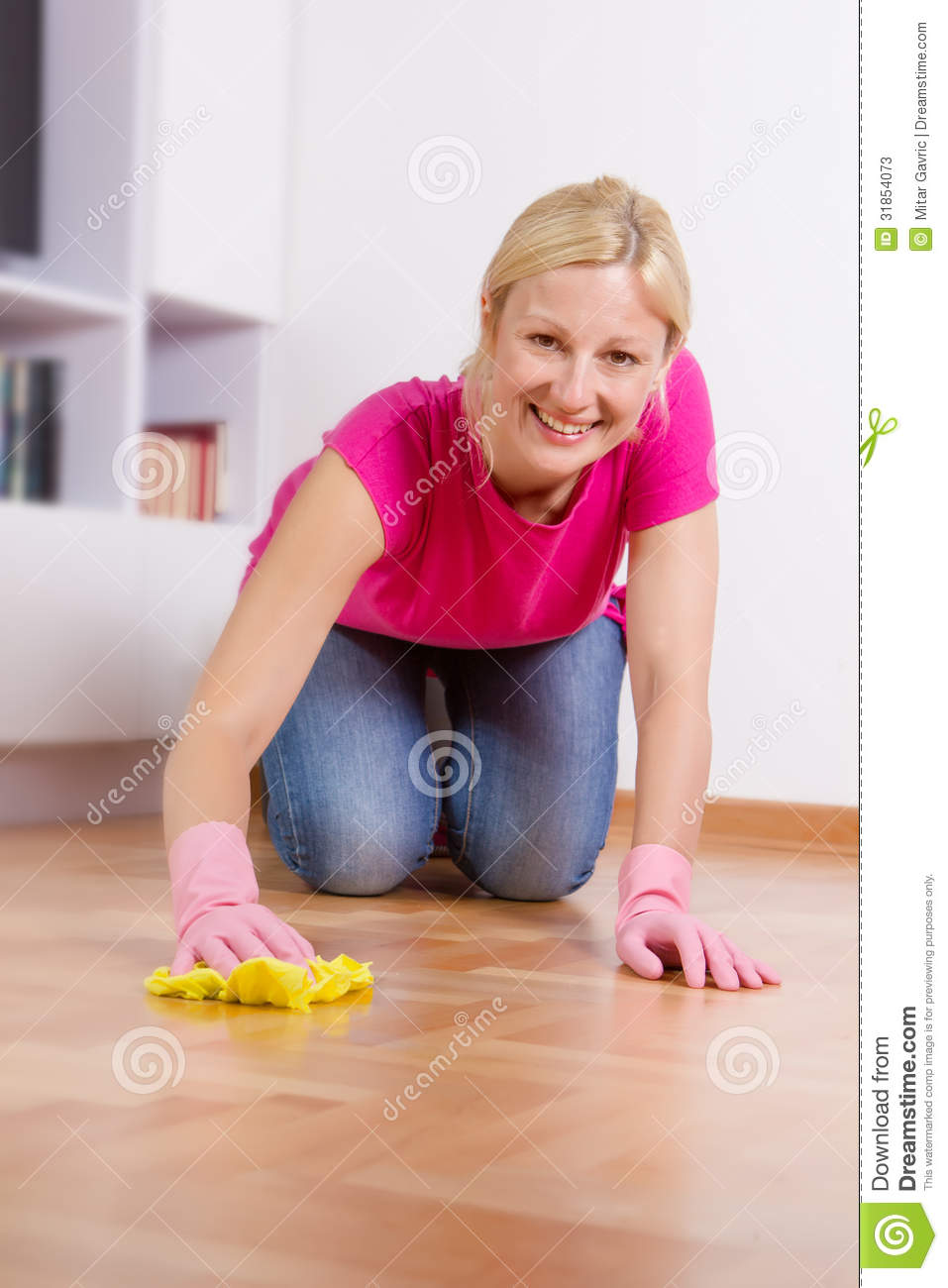 Young Woman Cleaning Home Stock Photos   Image  31854073