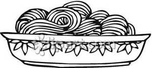 Black And White Spaghetti   Royalty Free Clipart Picture