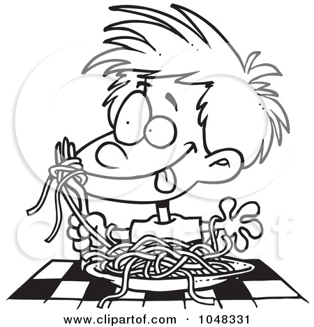 spaghetti black and white clipart clipart kid
