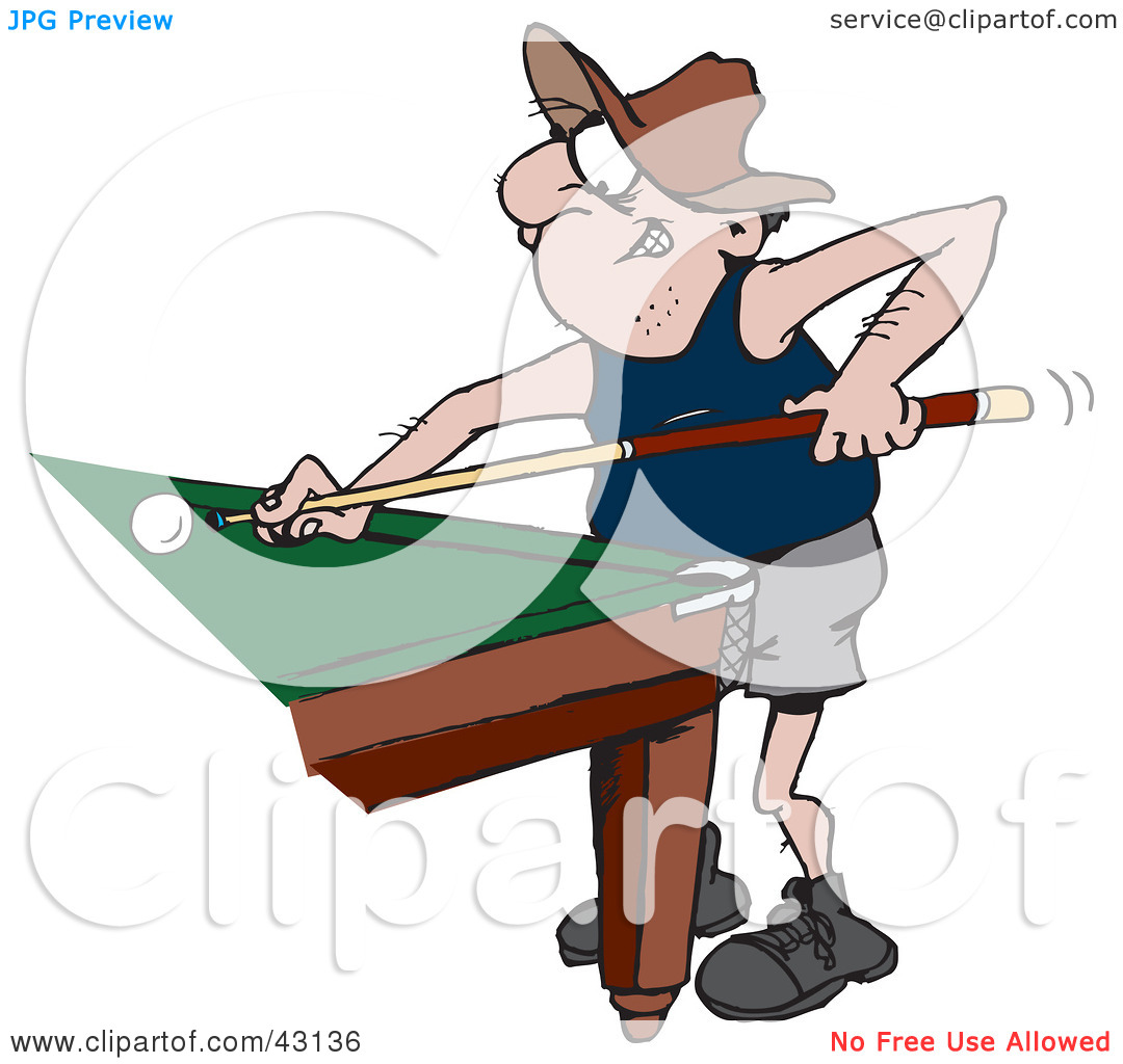 Playing Pool Clipart - Clipart Kid