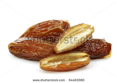 Dates Fruit Clipart Date Fruit And A Cut One On A