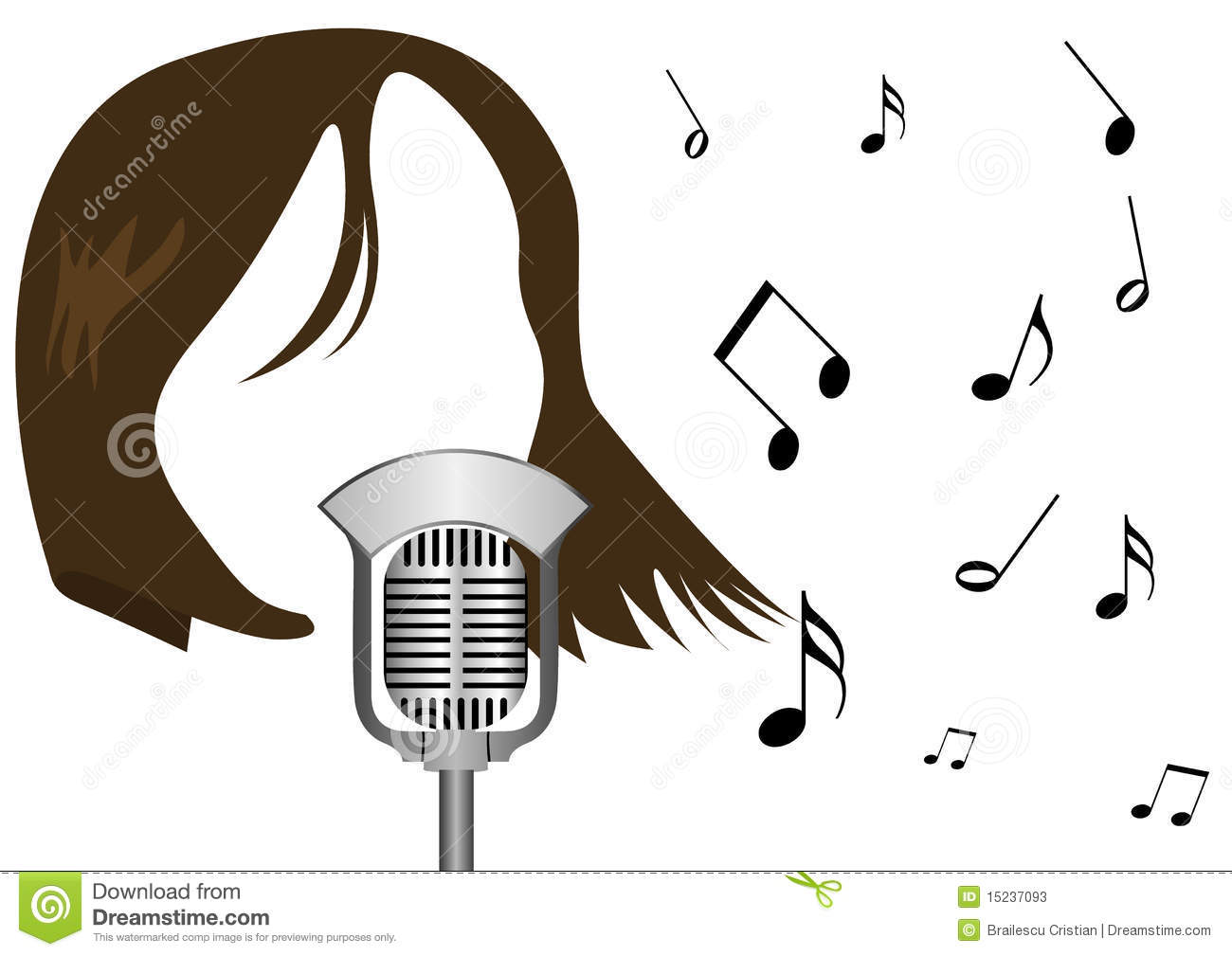 Girl Singing Into Microphone Clipart Illustration Of A Microphone