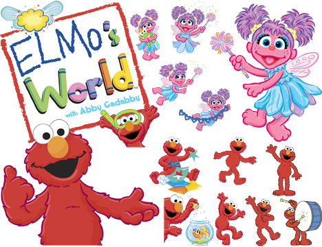 Instant Download Sesame Street Elmo And Abby Cadabby Clip Art