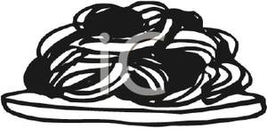 Pasta Noodles Clipart Black And White Black And White Spaghetti