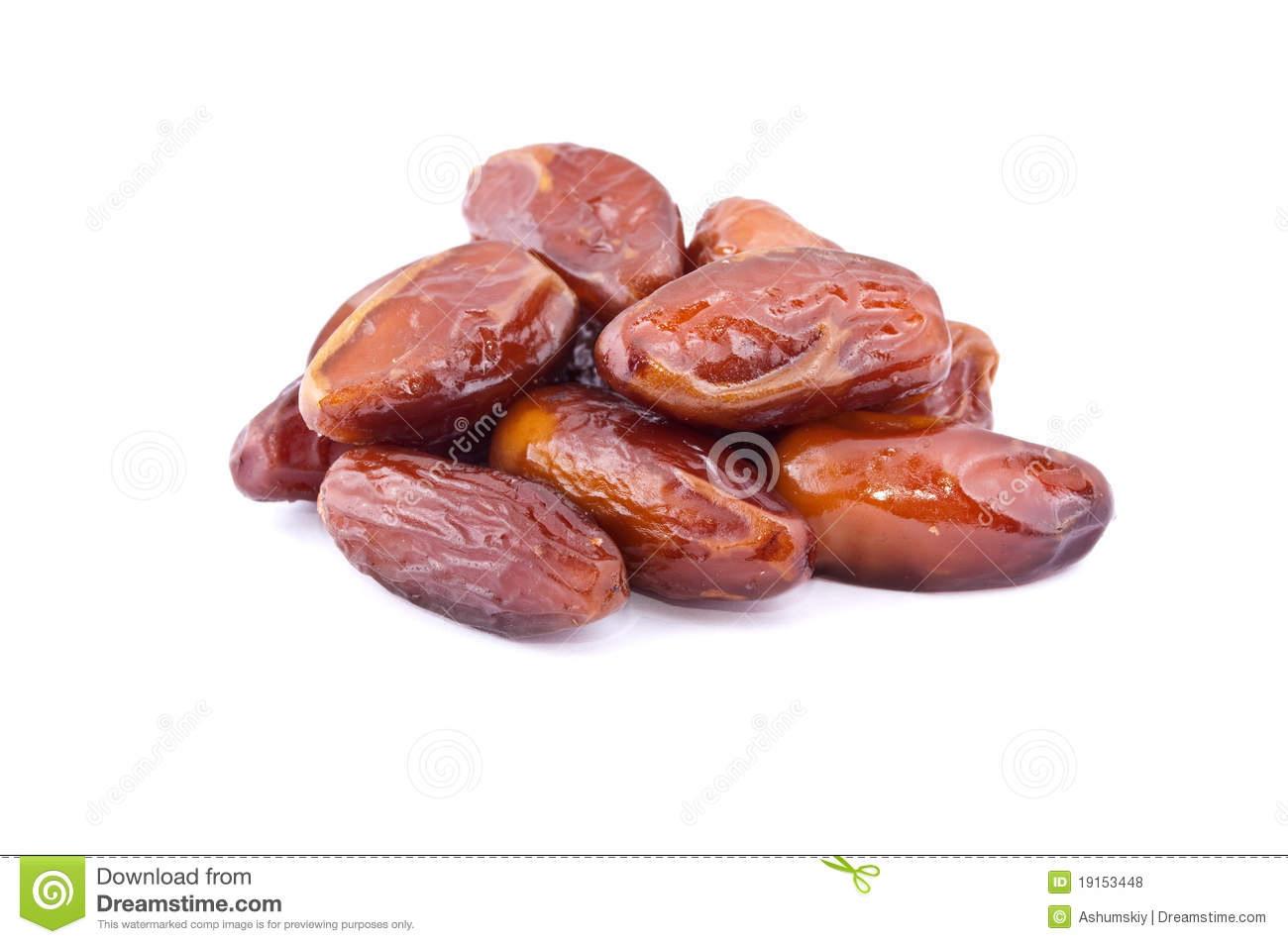 Dried Medjool dates isolated on a white studio background. - stock ...
