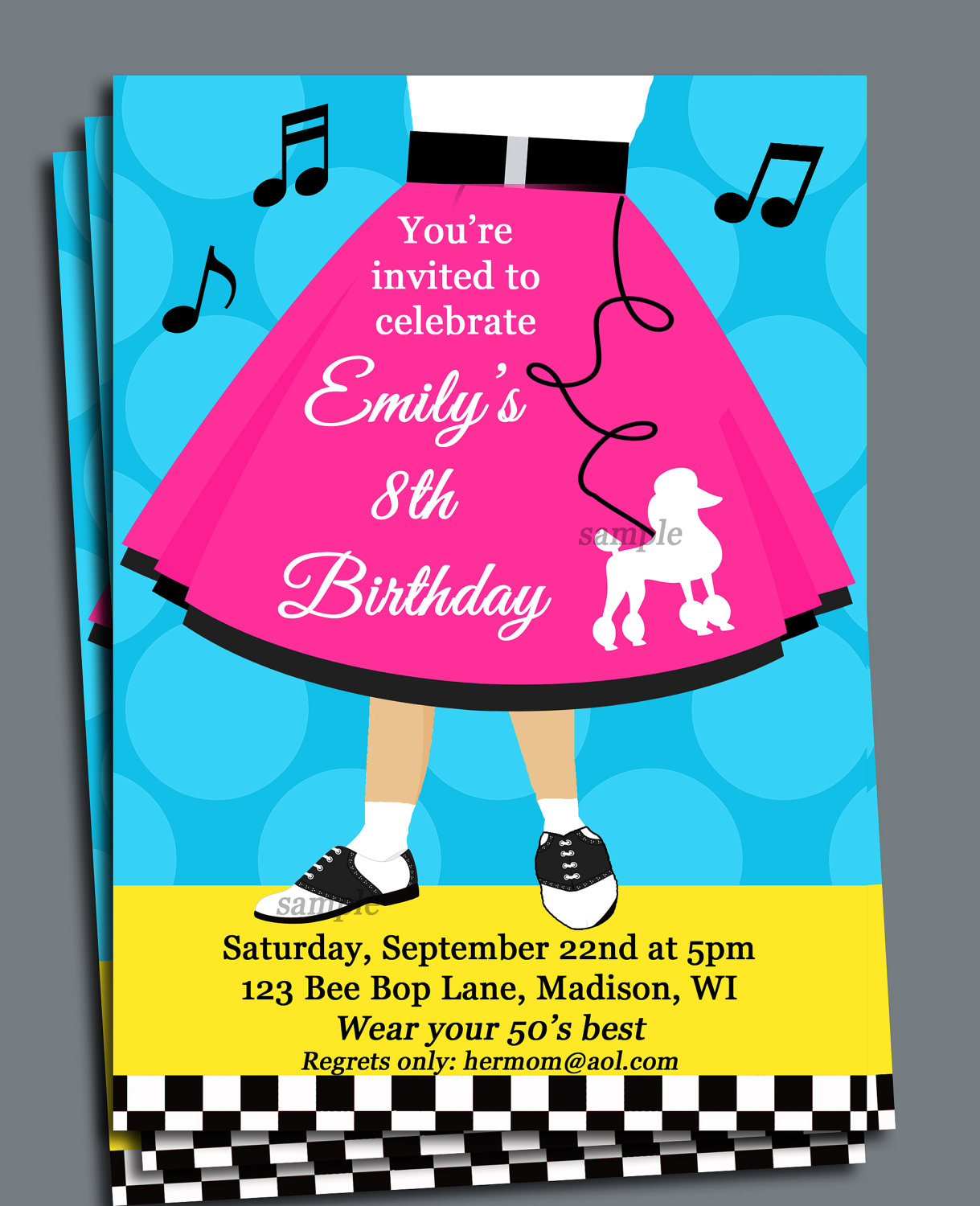 Pink Poodle Skirt Clipart Birthday Poodle Skirt Fun