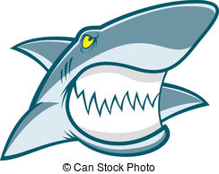 Shark Face Design Vector Clipart And Illustrations