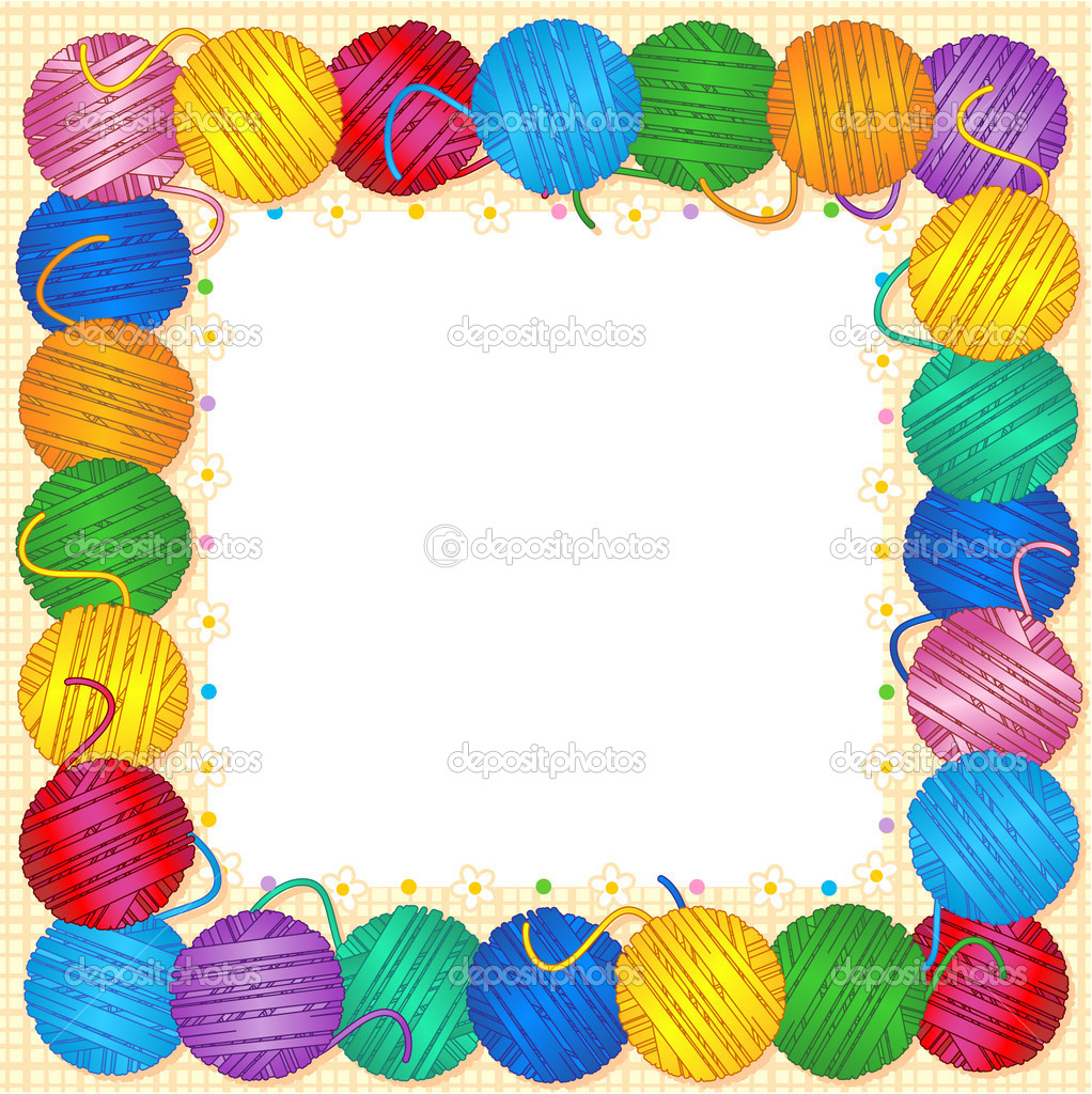 yarn clip art borders - photo #3