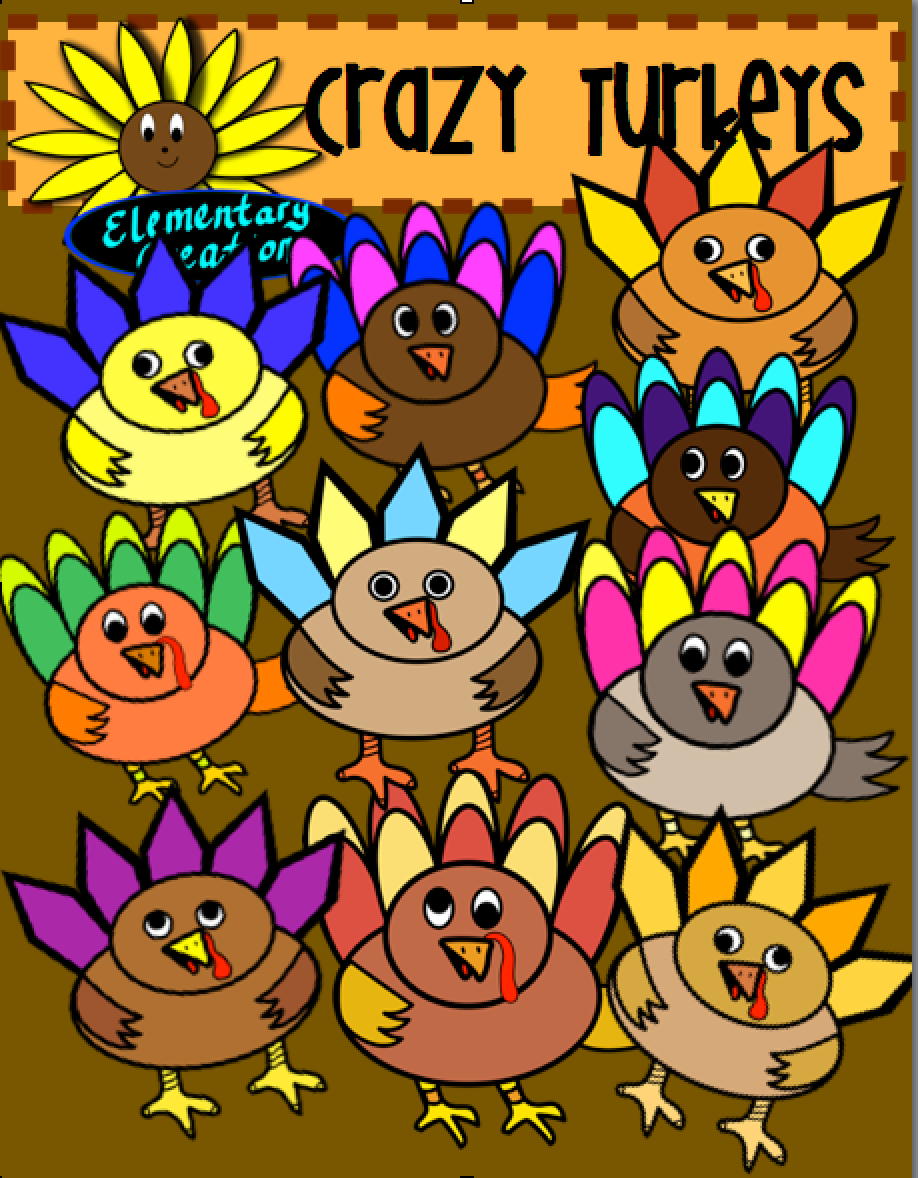 Best Of Teacher Entrepreneurs  Misc  Lesson   Crazy Turkey Clipart