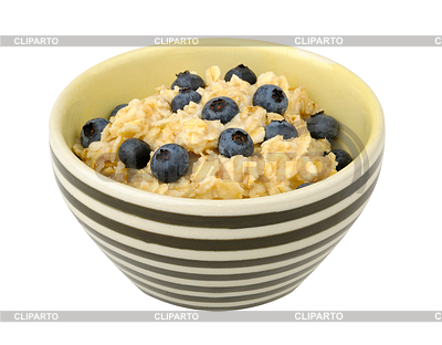 Bowl Of Oatmeal Clipart Oatmeal With Blueberries In A