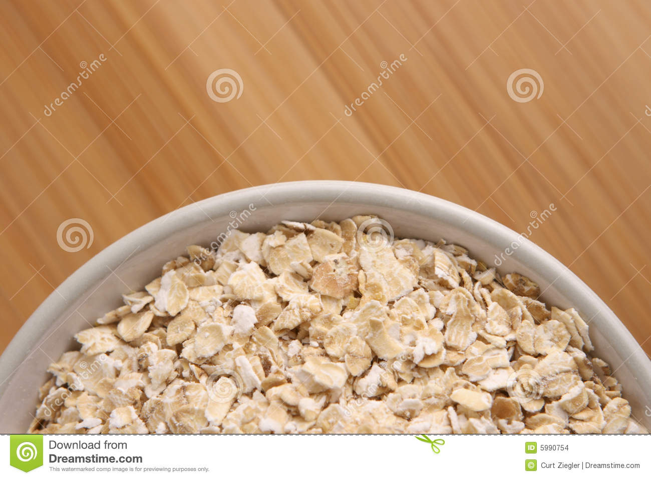 Bowl Of Oatmeal Stock Images   Image  5990754