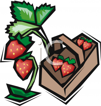 Strawberry Basket Clipart - Clipart Kid