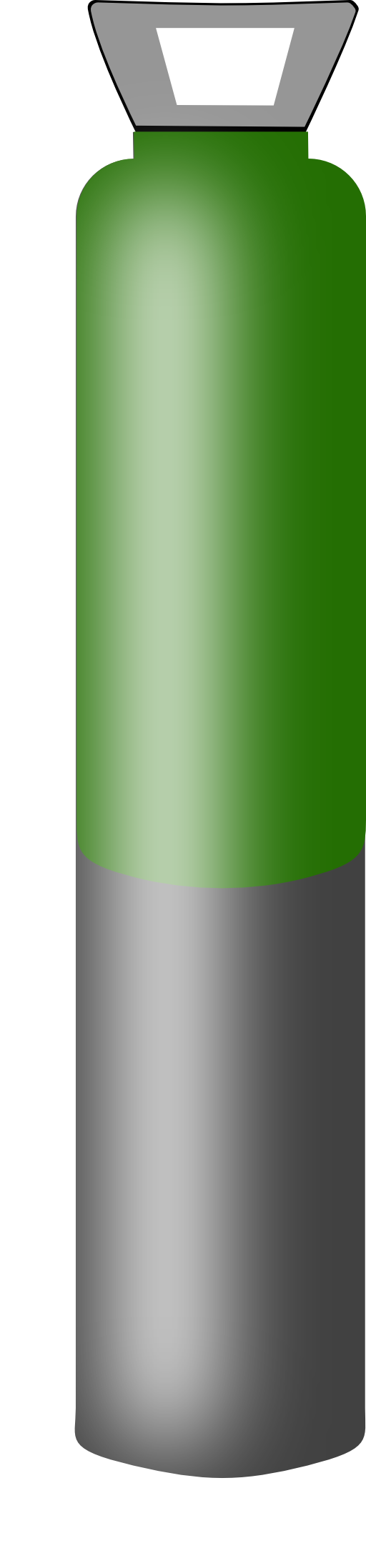 Gas Cylinder Grey And Dark Green High Pressure For Argon Clipart