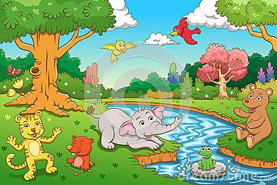 Jungle Scene Clipart Clipart Suggest