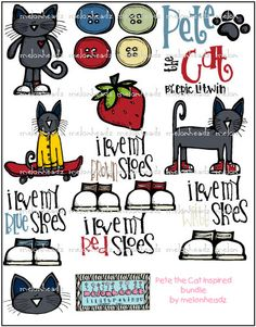 Pete The Cat Clipart Pete The Cat Clip Art On Etsy