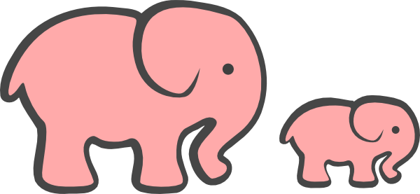 Clip Art Baby Elephant Clip Art pink elephant clipart kid mom baby clip art at clker com vector art