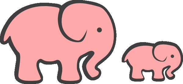 Cute pink elephant cartoon - photo#28