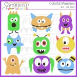 Price   Price   5 00 Click To View Colorful Monster Clipart