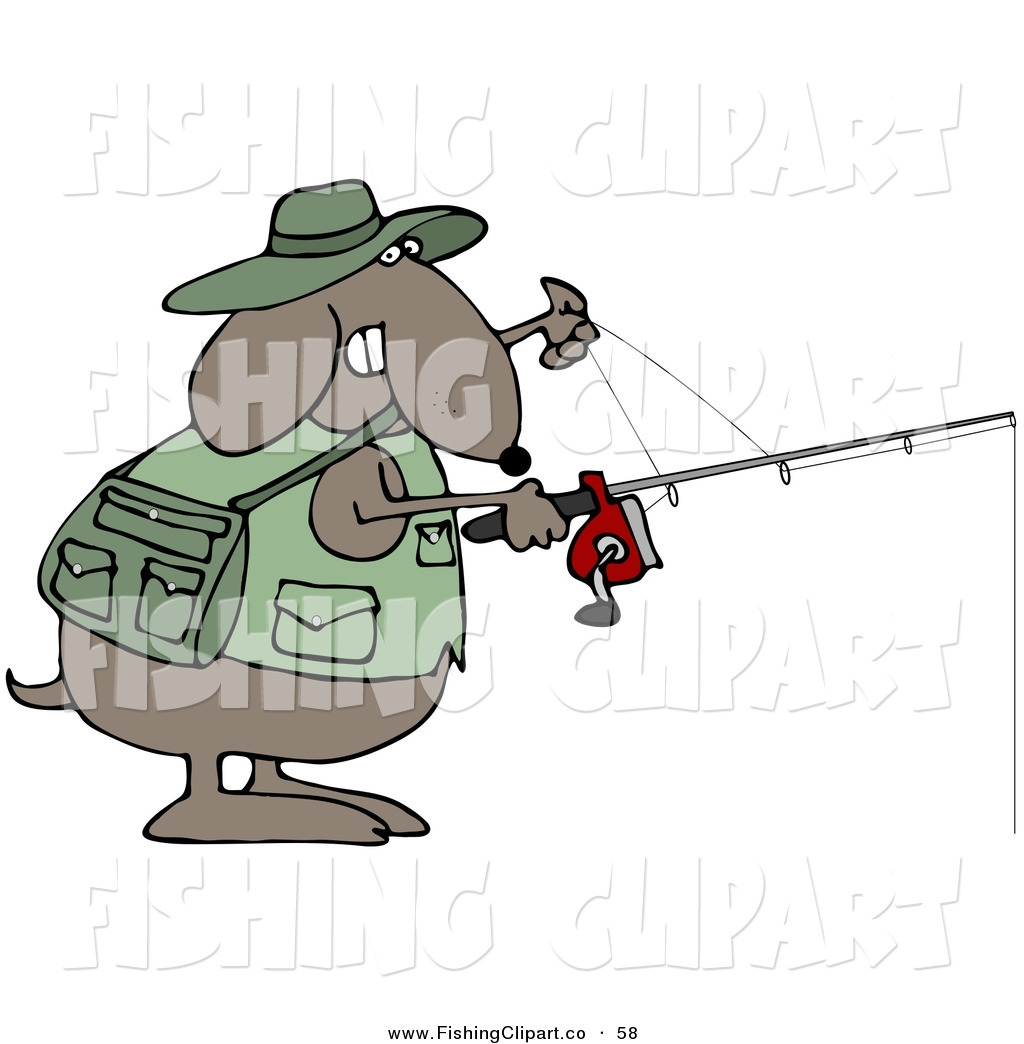 Fishing rod and reel clip art
