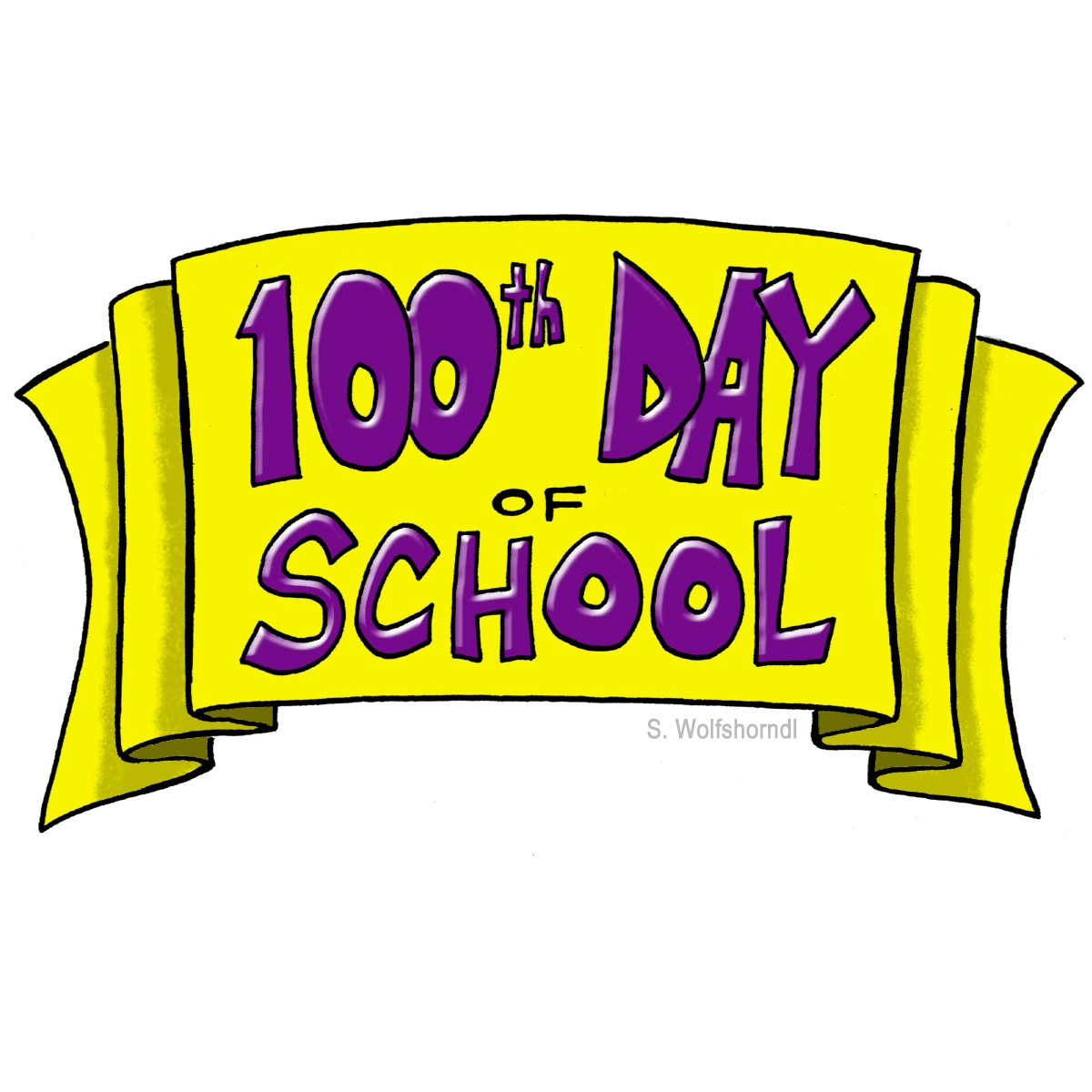 Image result for 100th day clipart