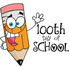 100th Day Of School Pencil