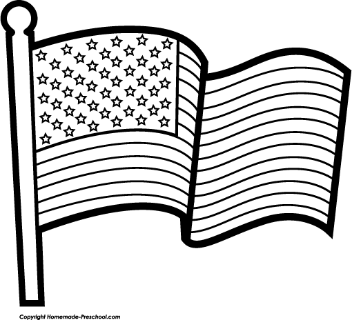Addition Clipart Black And White American Flag Wave Gray Bw Png