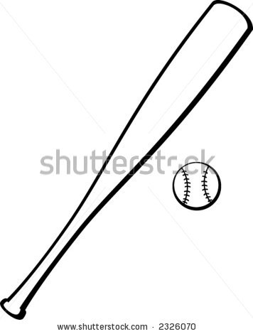 Clip Art Clipart Baseball Bat baseball bat black and white clipart kid panda free images