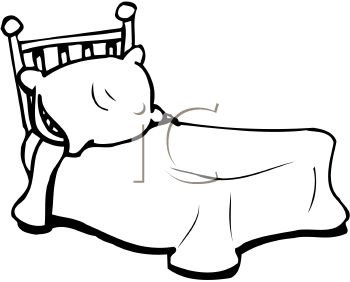 Bed Clip Art Black And White Bed Clipartroyalty Free Clip