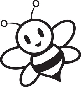 Honey Bee Clipart Black And White