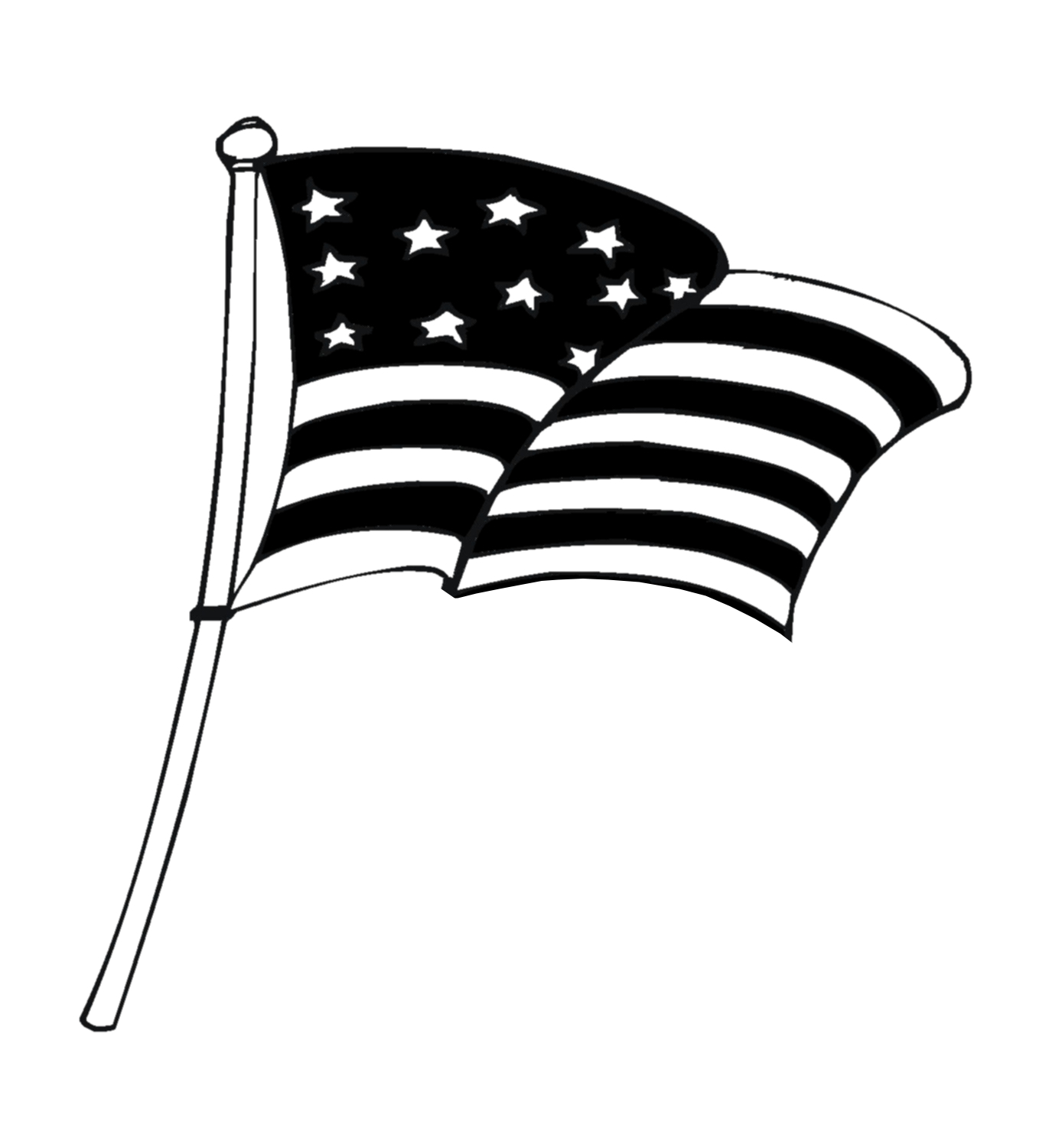 Black And White Fireworks Clipart Opposite Clipart American Flag