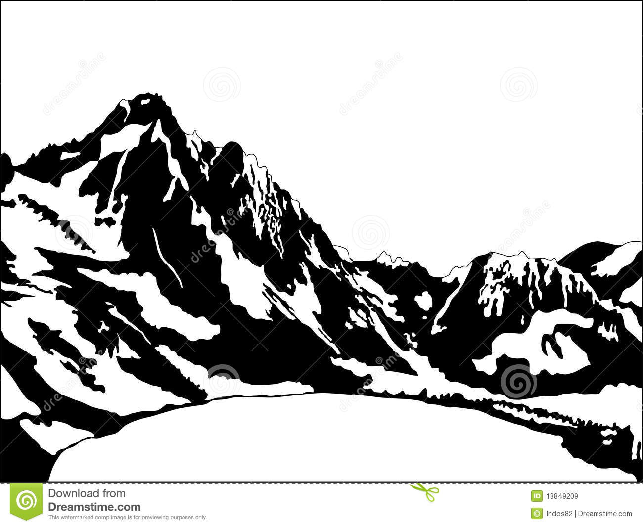Black And White Mountain Royalty Free Stock Images   Image  18849209