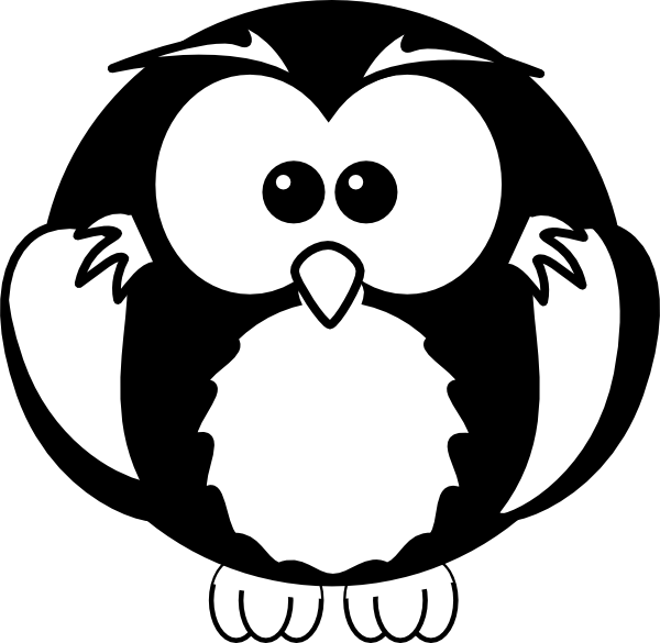 Black And White Owl Clip Art At Clker Com   Vector Clip Art Online