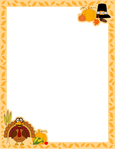 Borders For Halloween And Thanksgiving And More