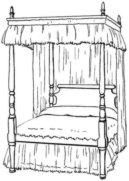 Canopy Bed   Http   Www Wpclipart Com Household Bedroom Canopy Bed Png