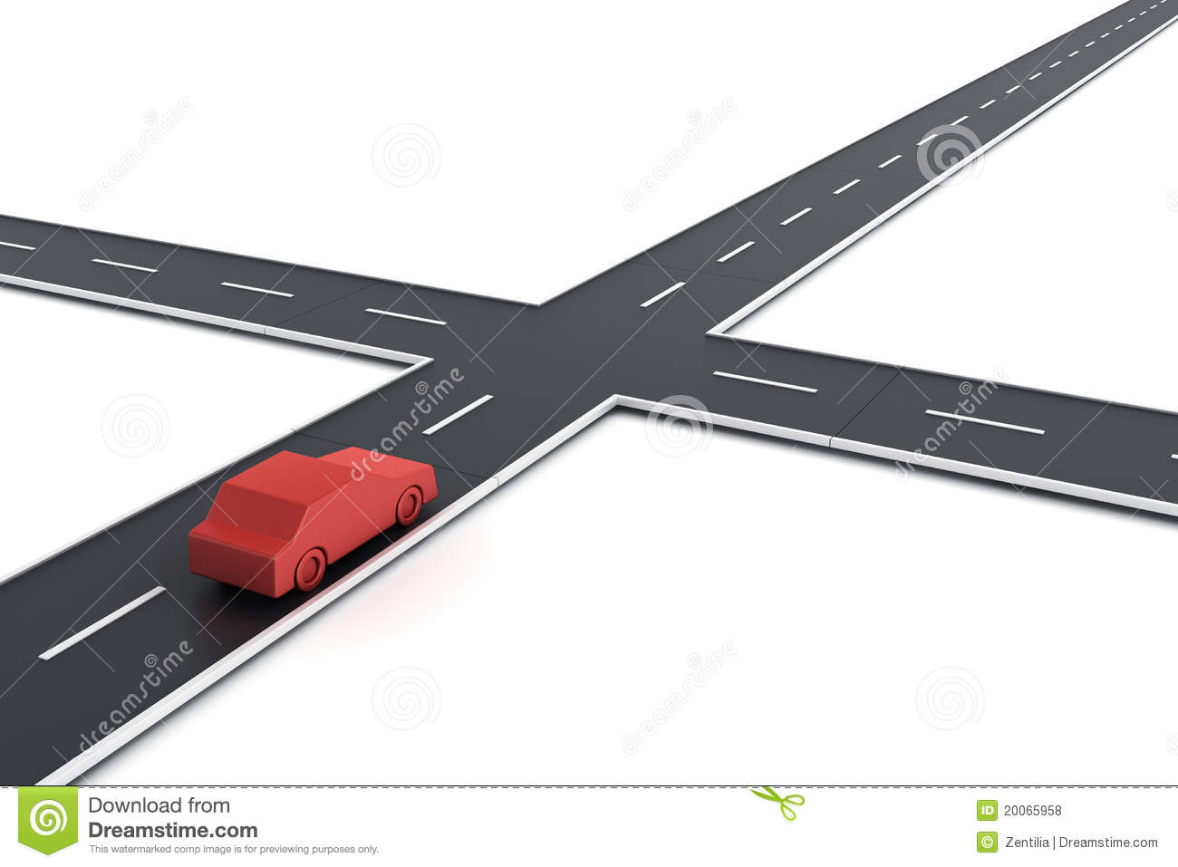 Car At Intersection Royalty Free Stock Photos   Image  20065958