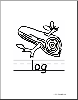 Clip Art  Basic Words  Log B W  Poster    Preview 1