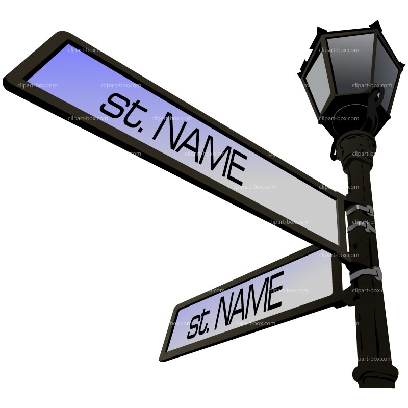 Clipart Street Sign   Royalty Free Vector Design