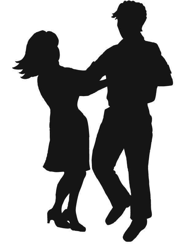 Couples   Silhouettes Clip Art