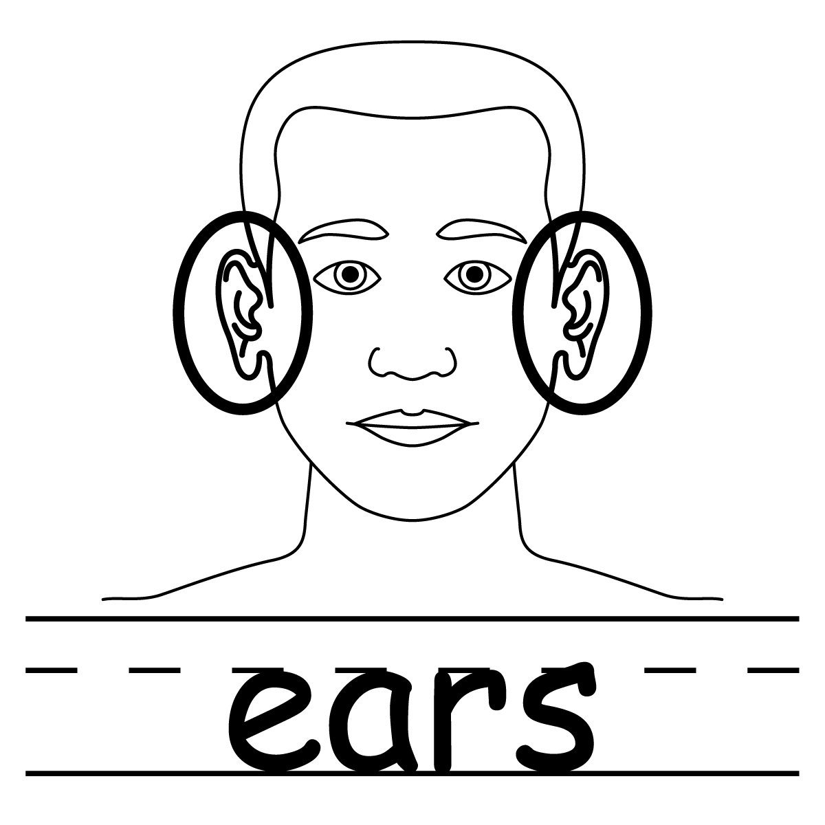 Ear Clipart Black And White   Clipart Panda   Free Clipart Images