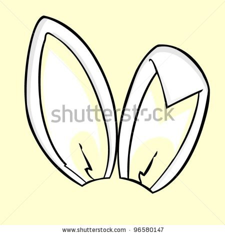 Clip Art Bunny Ears Clipart bunny ears clipart kid ear black and white stock vector easter ears