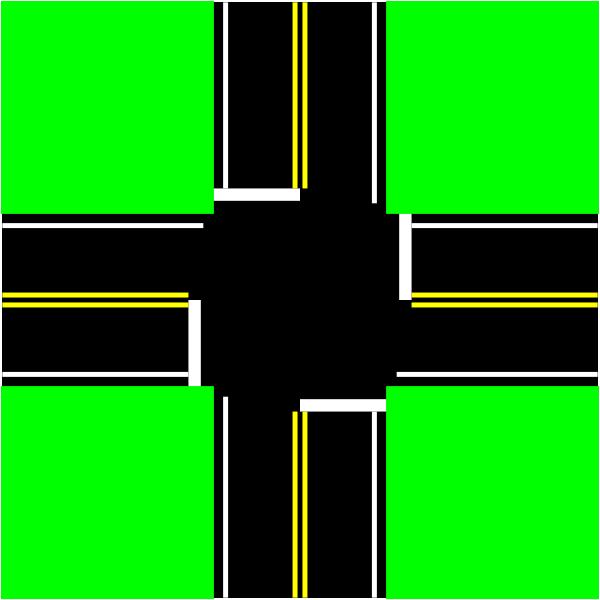 Four Way Intersection Clip Art At Clker Com   Vector Clip Art Online