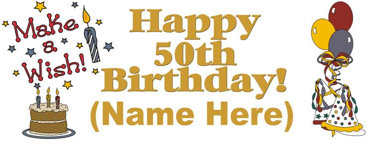 Funny 50th Birthday Clipart Clipart Kid – Birthday Greetings for 50th Birthday