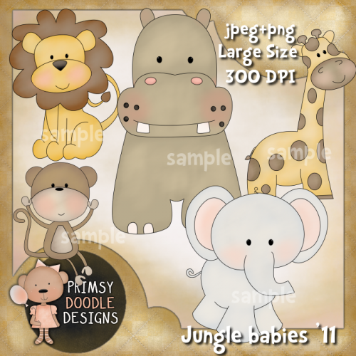 Home clipart animal clipart baby jungle animals 11 an7ls0 for Classic jungle house for small animals